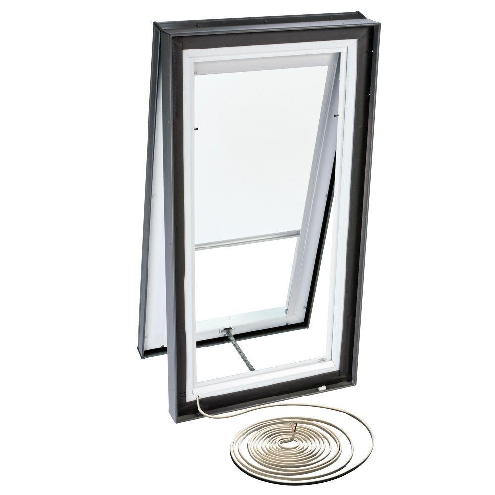 VELUX White Electric Blackout Skylight Blind for VCE 3434 Models-DISCONTINUED