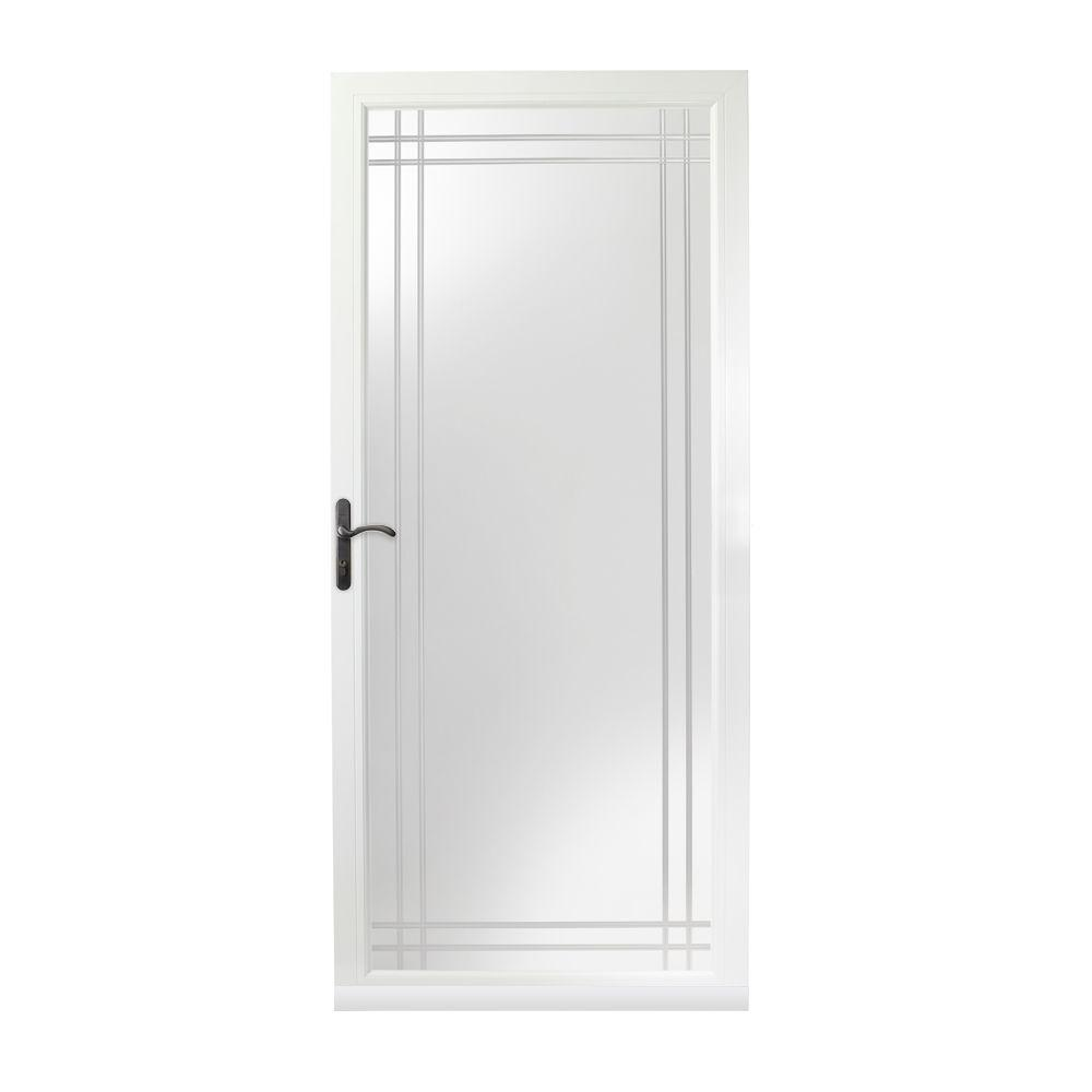 Andersen 36 in x 80 in 3000 series white left hand for Sliding storm doors home depot