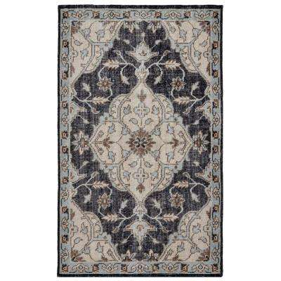 Vincent Navy/Silver 8 ft. x 11 ft. Area Rug