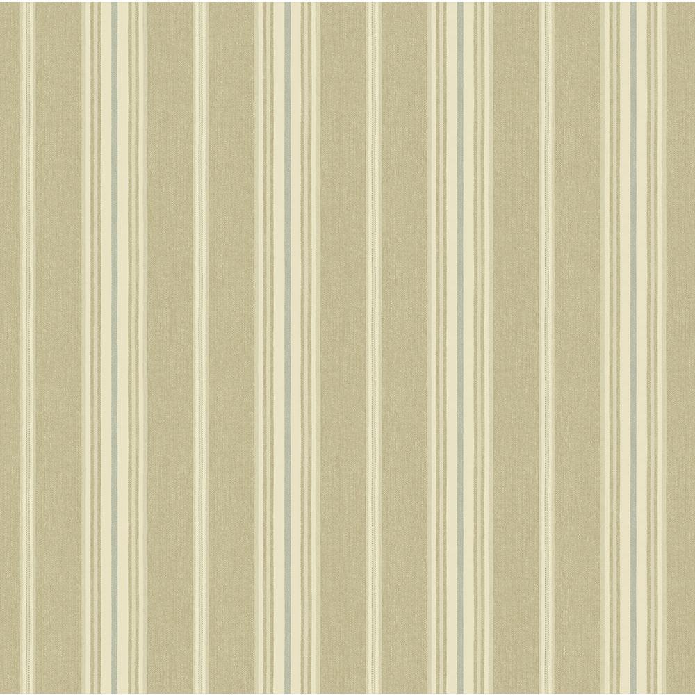 Cooper Wheat Cabin Stripe Wallpaper