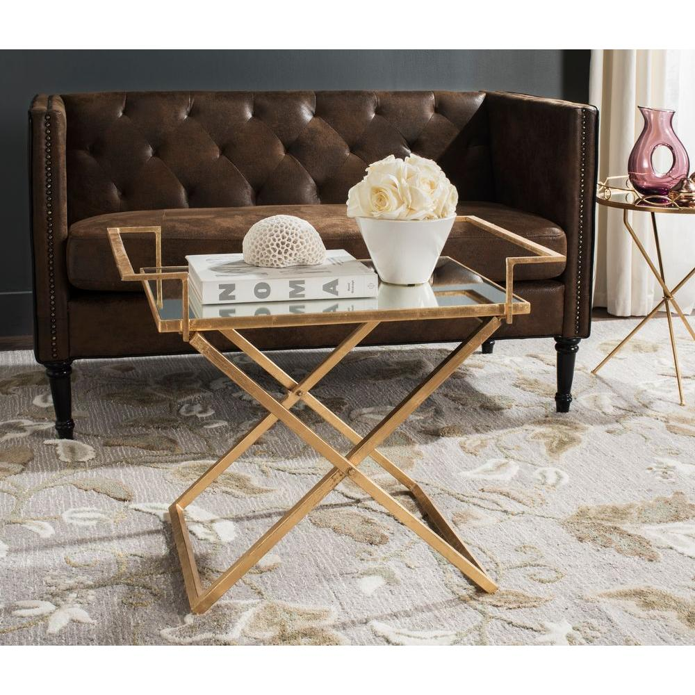 Merveilleux Safavieh Pierre Antique Gold Leaf Coffee Table