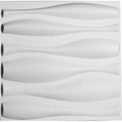 1 in. x 19-5/8 in. x 19-5/8 in. PVC White Fairfax EnduraWall Decorative 3D Wall Panel