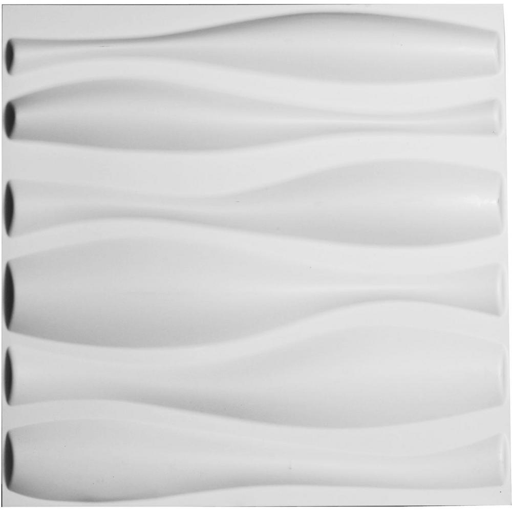 Ekena Millwork 1 in. x 19-5/8 in. x 19-5/8 in. PVC White Fairfax EnduraWall Decorative 3D Wall Panel