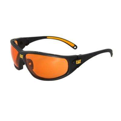 Safety Glasses Tread Orange Lens with Case