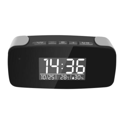 Mini Alarm Clock Hidden Camera with Wi-Fi, Nightvision, and HD Streaming