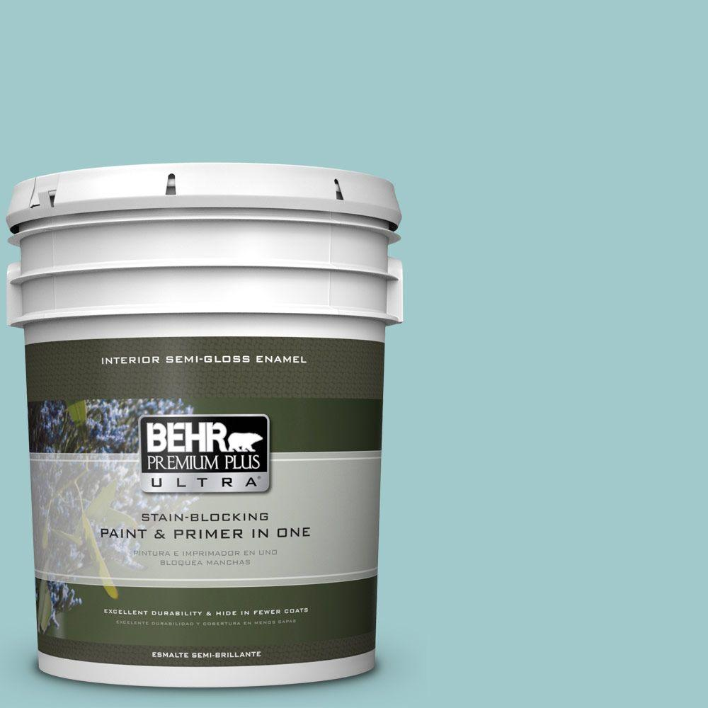 5 gal. #HDC-SP16-08 Blue Bell Semi-Gloss Enamel Interior Paint