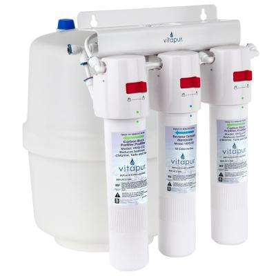 Three Stage 23.3 GPD Quick Connect Reverse Osmosis Water Treatment System