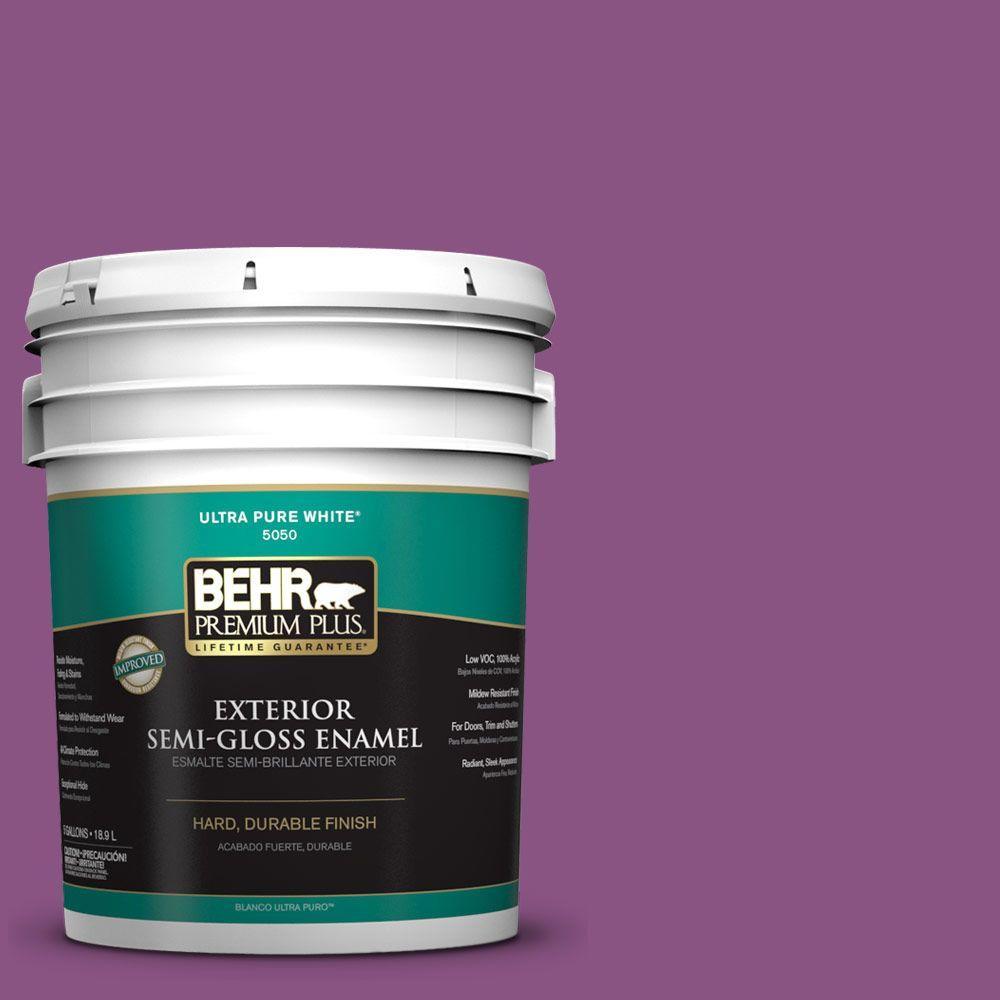 5-gal. #HDC-MD-07 Dynamic Magenta Semi-Gloss Enamel Exterior Paint