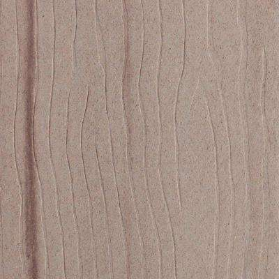 Vantage 1 in. x 5-3/8 in. x 1/2 ft. Desert Sand Composite Decking Board Sample