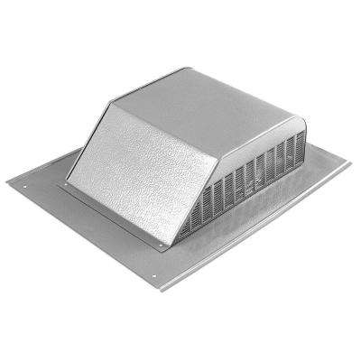 60 in. NFA Aluminum Slant Back Roof Louver Static Vent in Mill