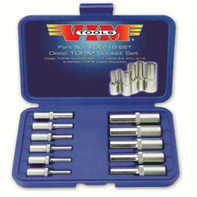 Deep Torx Socket Set (11-Piece)