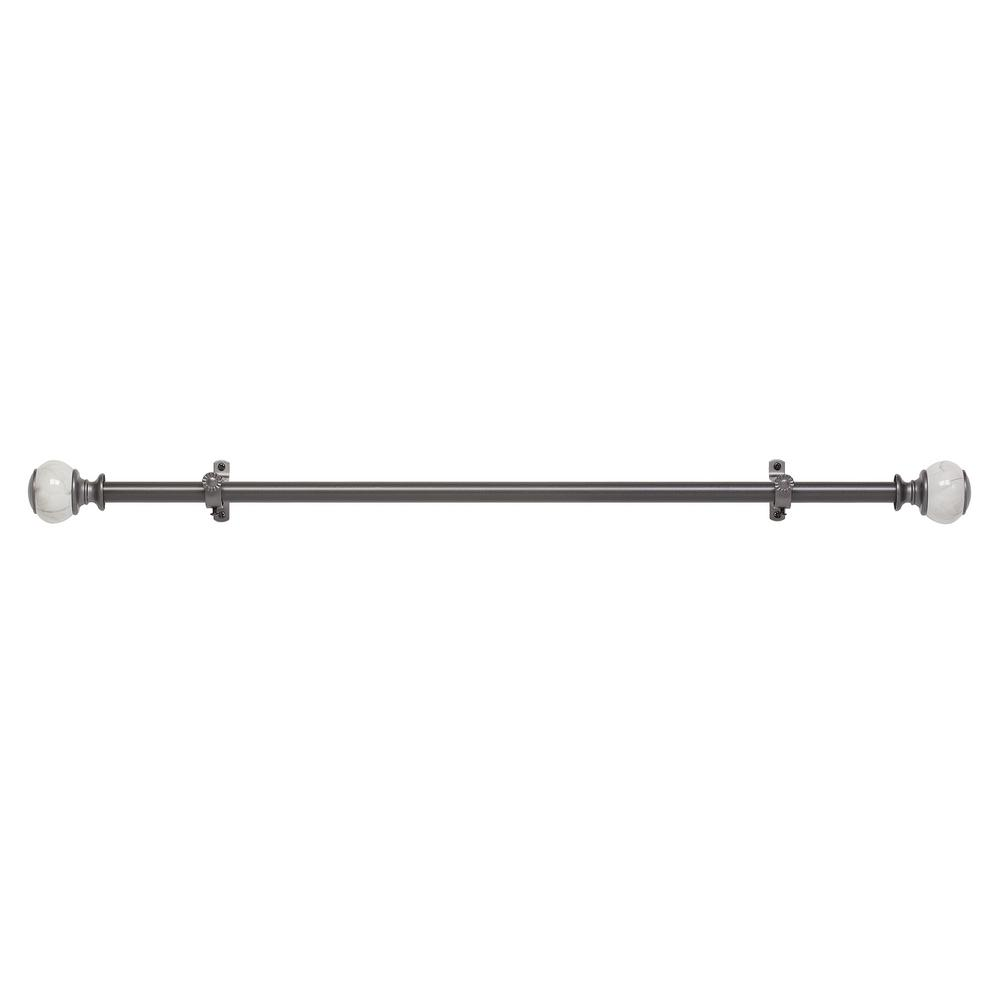 Camino Estate 28 in. to 48 in. Decorative Rod and Finial
