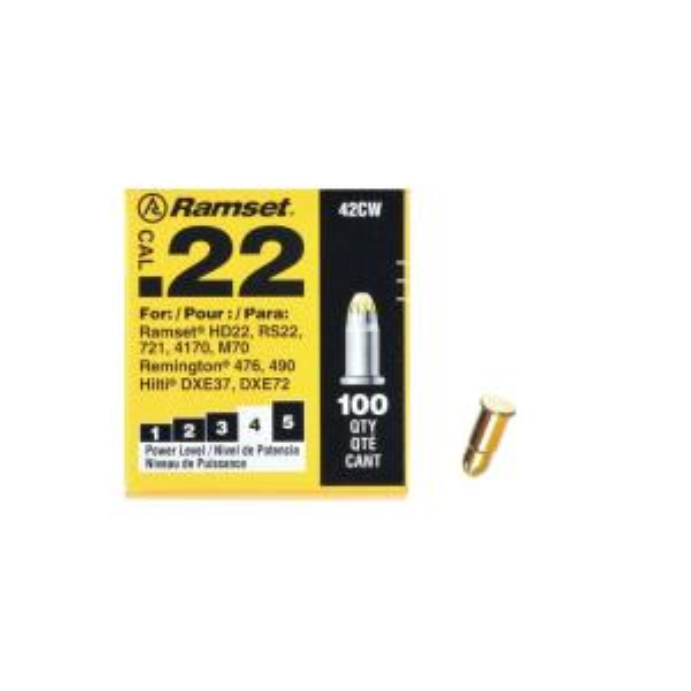 Ramset 0 22 Caliber Yellow Single Shot Powder Loads (100-Count)-00607 - The  Home Depot