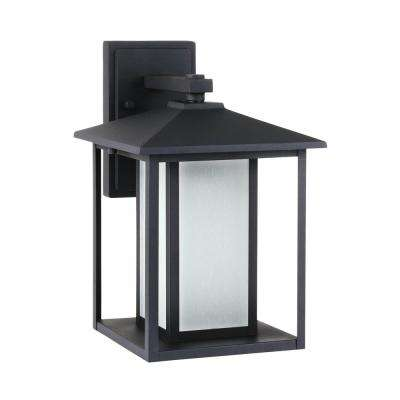 Hunnington 1-Light Black Outdoor Wall Mount Lantern