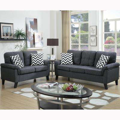 Liguria 2-Piece Blue Gray Sofa Set
