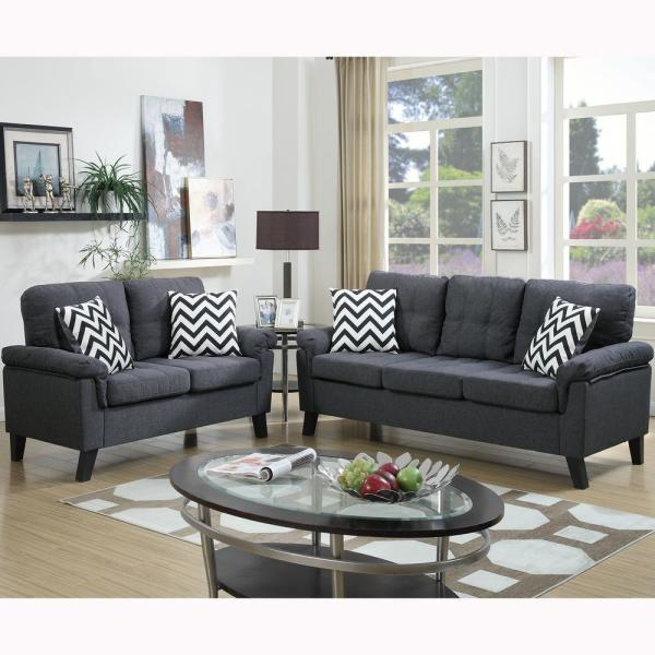 Venetian Worldwide Liguria 2-Piece Blue Gray Sofa Set VENE ...