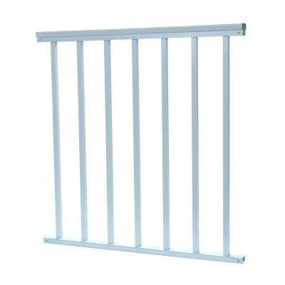 3/4 in. x 32 in. x 36 in. Aluminum White Baluster Railing
