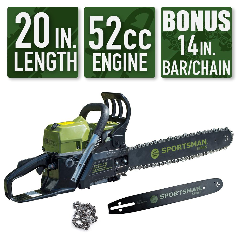 Sportsman 2-in-1 20 in. and 14 in. 52cc Gas Chainsaw Combo was $239.0 now $119.0 (50.0% off)