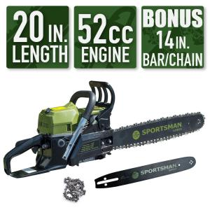 Deals on Sportsman 2-in-1 20 in. and 14 in. 52cc Gas Chainsaw