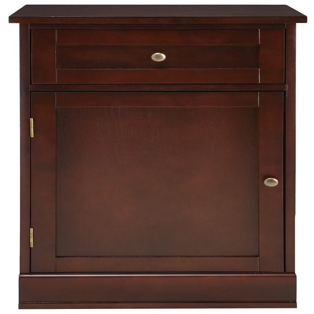 Prefab Kitchen Cabinets Home Depot: Home Decorators Collection Bismark 1-Drawer Smokey Brown