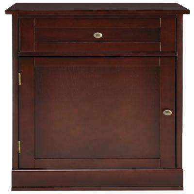 Bismark 1-Drawer Smokey Brown Modular Bench Cabinet