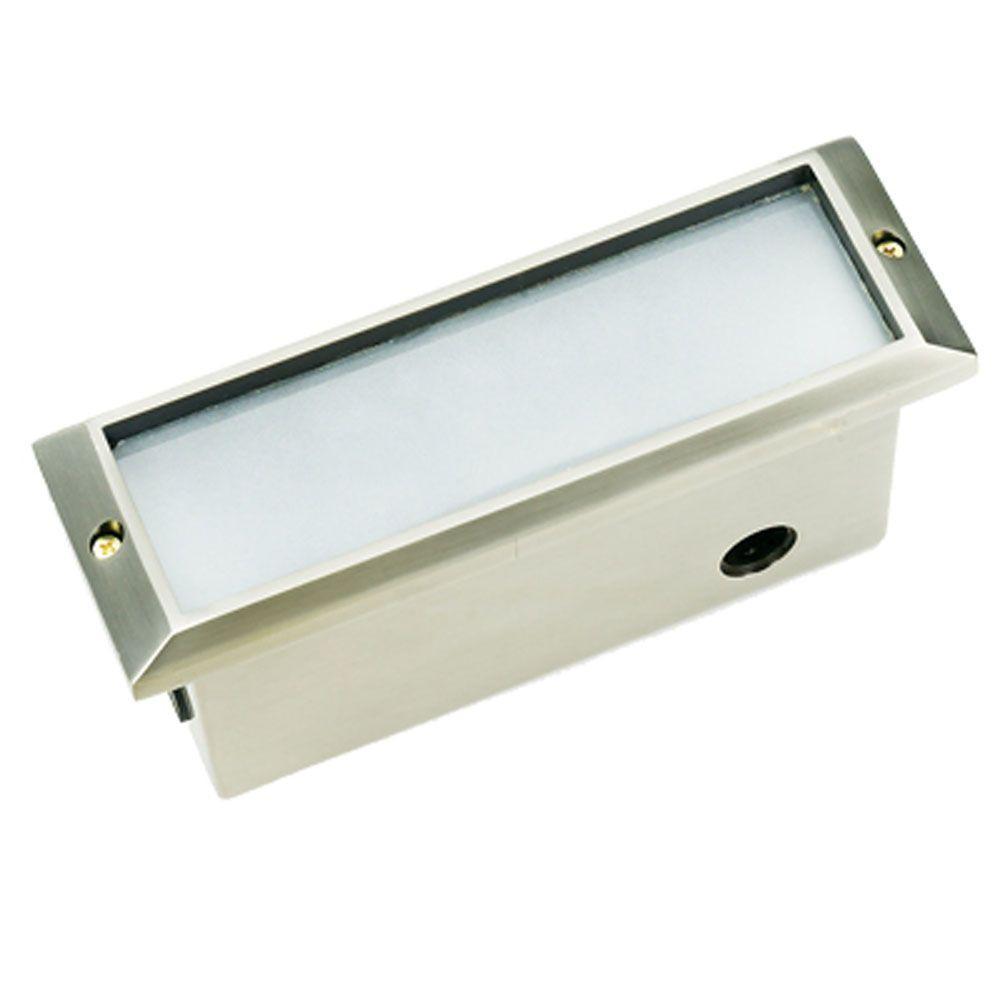 1-Light Stainless Steel Die Cast Brass Brick Step Light