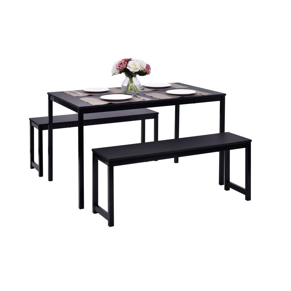 Boyel Living 3 Piece Black Dining Set