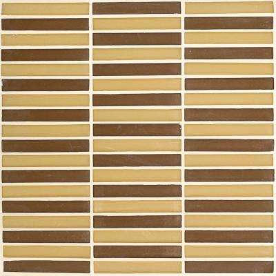 Desert 11.687 in. x 11.687 in. 10mm Frosted Glass Mosaic Wall Tile (0.95 sq. ft. / per sheet)