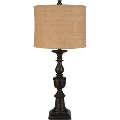 Kemeny 33 in. Textural Bronze Indoor Table Lamp