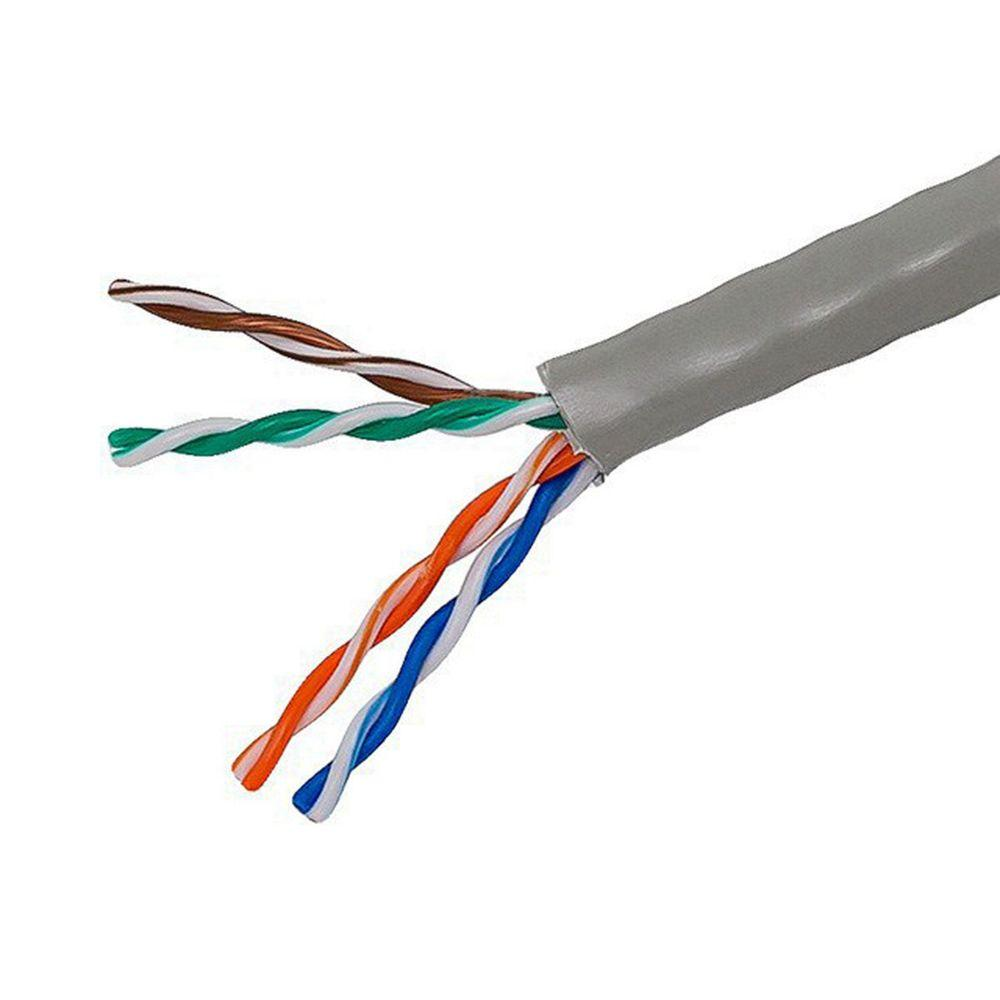 TygerWire Category 5 1000 ft. Gray 24-4 Unshielded Twist Pair Cable ...