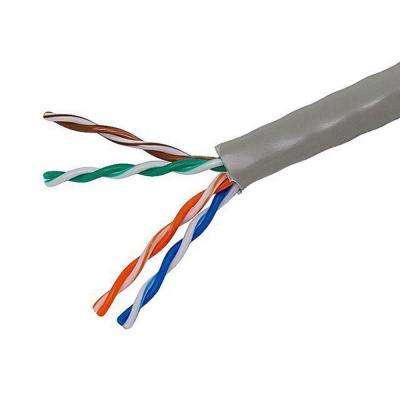 TygerWire Category 5 1000 ft. Gray 24-4 Unshielded Twist Pair Cable with FT4 Rated