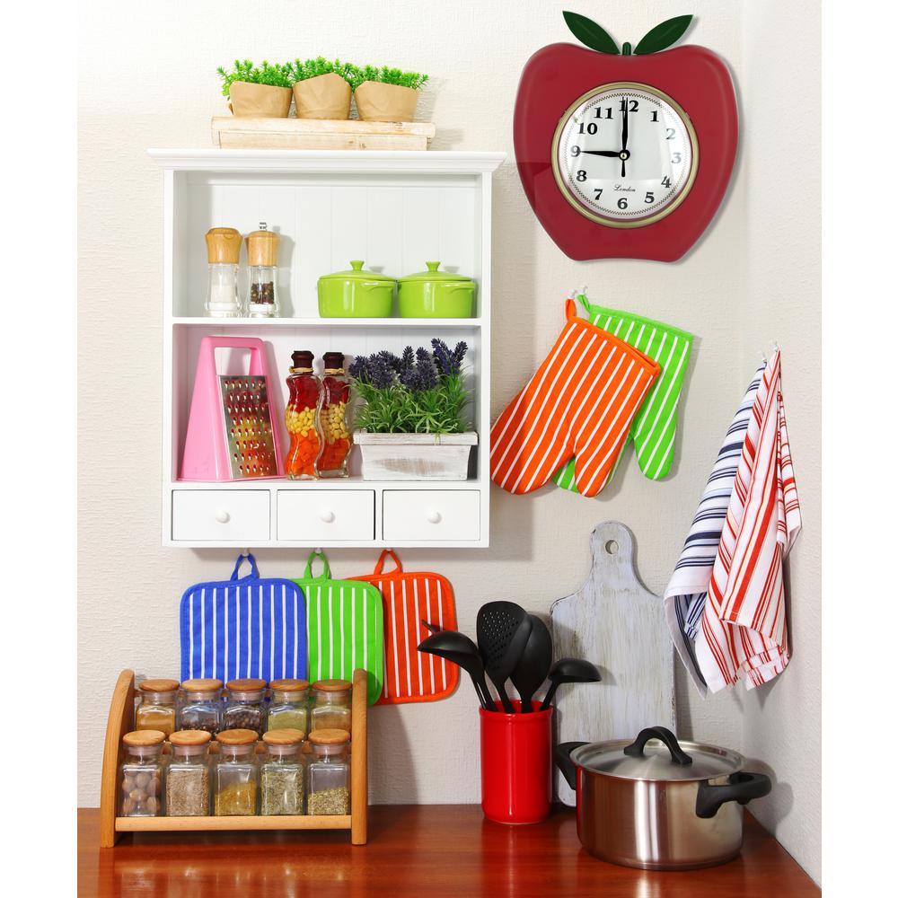Red Apple Wall Clock Od776 The Home Depot