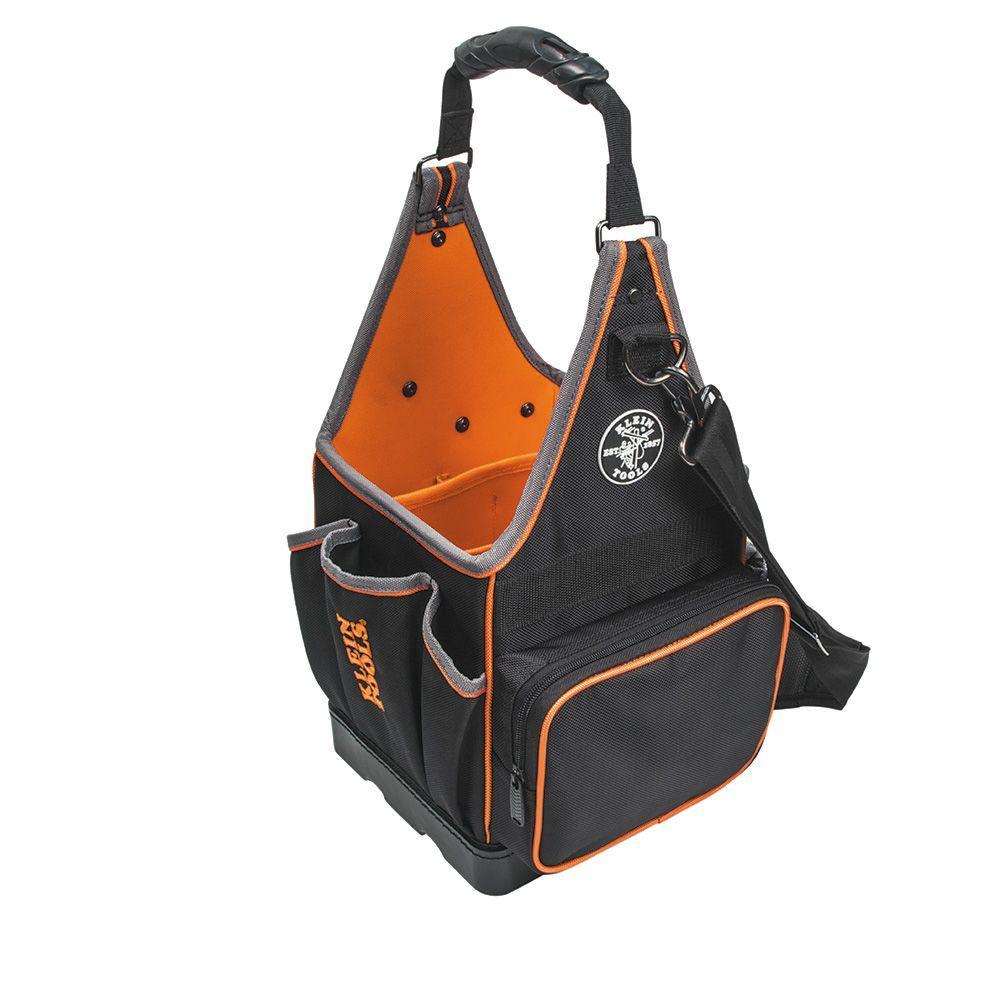 Tradesman Pro 8 in. Tote Organizer, Black With Bright Orange Interior