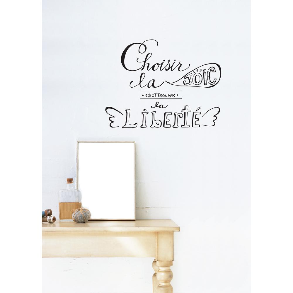 (23 in x 17.6 in) Trouver la liberte Wall Decal