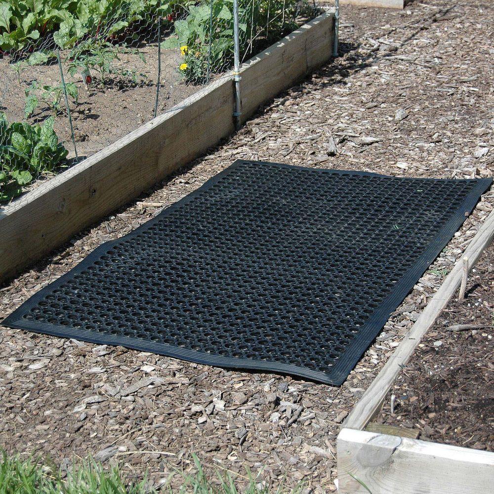 Indoor/Outdoor Durable Anti-Fatigue 36 in. x 60 in. Industrial Commercial Restaurant Rubber Floor Mat in Black (50-Pack)