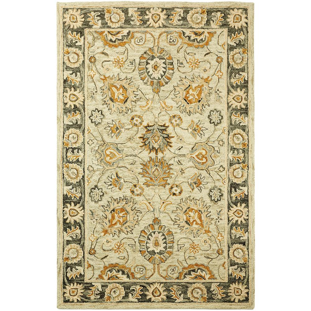 Dynasty Wheat 4 ft. x 6 ft. Accent Rug