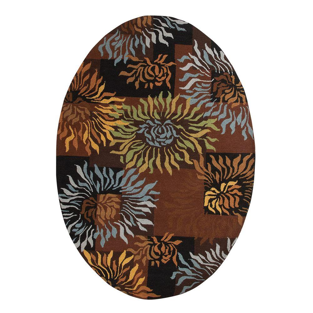 Home Decorators Collection Dazzle Black 7 ft. 6 in. x 9 ft. 6 in. Oval Area Rug