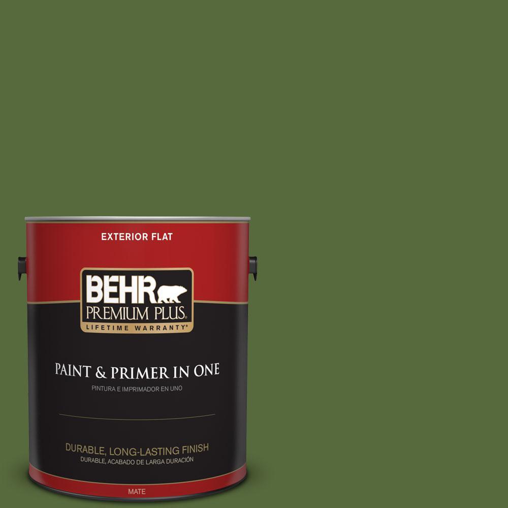 BEHR Premium Plus 1-gal. #410D-7 Mountain Forest Flat Exterior Paint