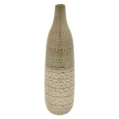24 in. Porcelain Gray Ceramic Ceramic Vase