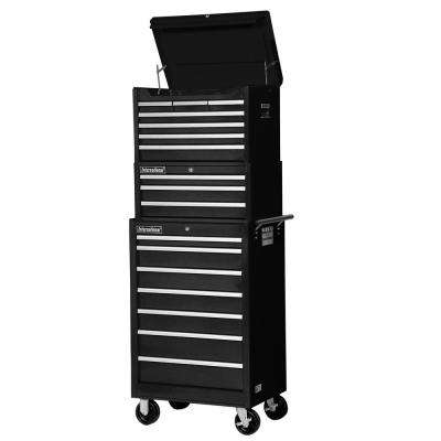 Tech Series 27 in. 17-Drawer Tool Chest and Cabinet Combo in Black