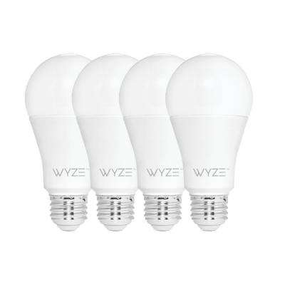 60-Watt Equivalent White 800 Lumens A19 Dimmable Wi-Fi LED Smart Light Bulb Tunable  Alexa and Google Assistant (4-Bulb)