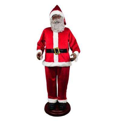 animated ethnic santa - Animated Christmas Decorations Indoor