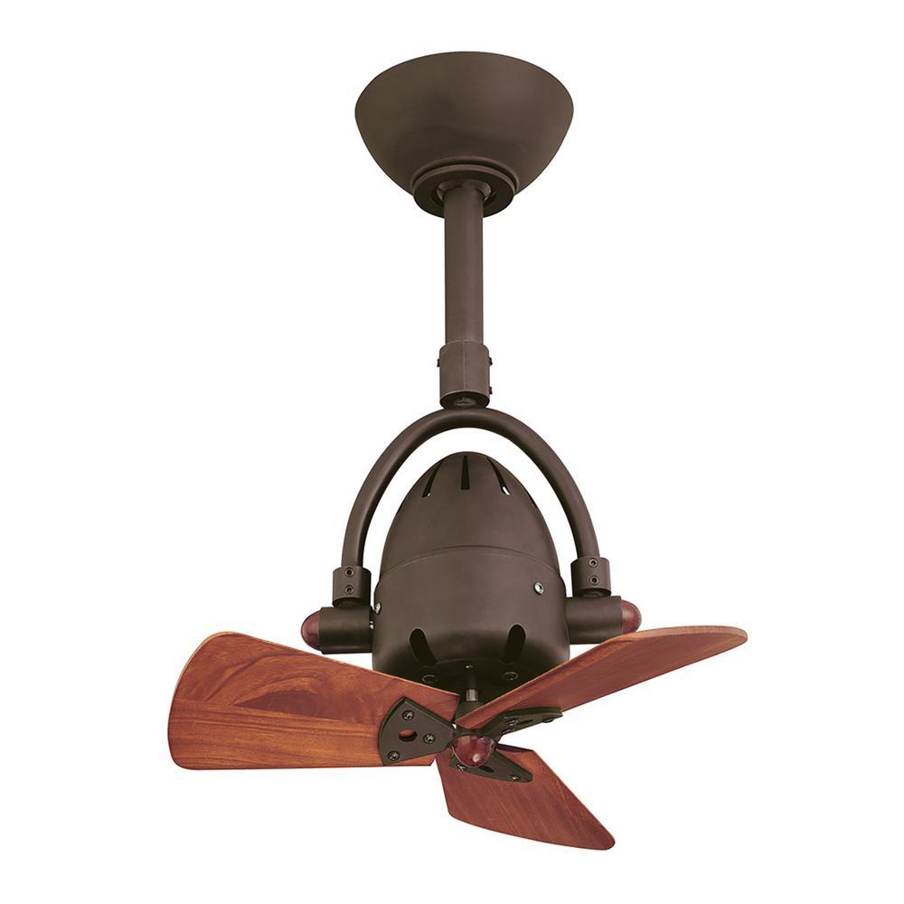 Diane 16 in. Indoor/Outdoor Textured Bronze Ceiling Fan with Remote Control