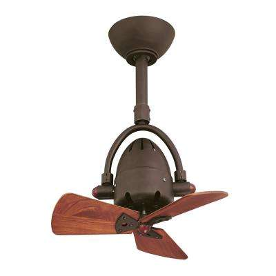 Diane 16 in. Indoor/Outdoor Textured Bronze Ceiling Fan with Remote Control
