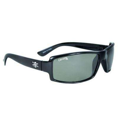 Black Frame New Wave Sunglasses with Mirror Lenses in Green