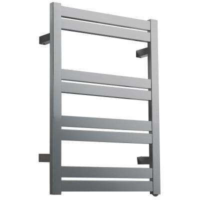 Tahitian Series 8-Bar Stainless Steel Wall Mounted Electric Towel Warmer in Brushed Nickel