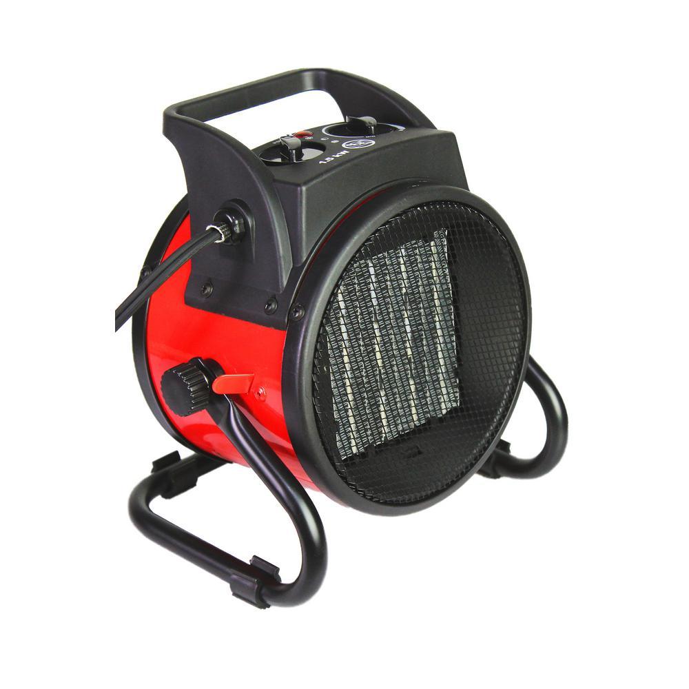 Ventamatic 750/1,500-Watt Electric Portable Fan Space Heater with Cradle Base