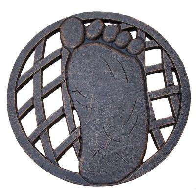 13 in. x 13 in. Circular Right Foot Aluminum Step Stone