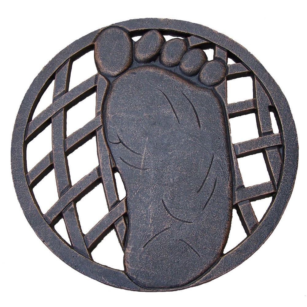 13 in. x 13 in. Circular Right Foot Aluminum Step Stone