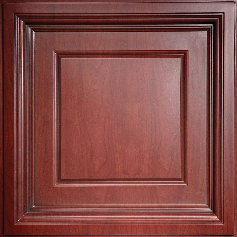 Ceilume madison faux wood cherry 2 ft x 2 ft lay in coffered ceilume madison faux wood cherry 2 ft x 2 ft lay in dailygadgetfo Gallery